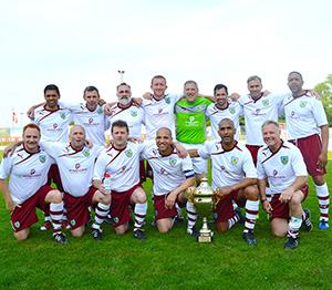 clarets with trophy
